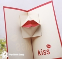 Moving Kiss Handmade 3D Pop Up Card #3296