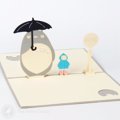 My Neighbor TOTORO 3D Pop-Up Greetings Card 1366