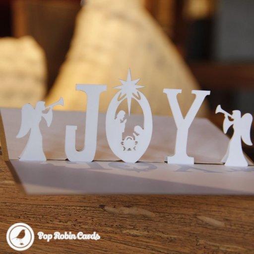 Nativity Joy & Angel Chorus 3D Pop-up Christmas Card 1786