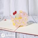 New Baby In Pram 3D Handmade Card #3325