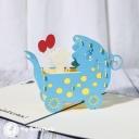 New Baby In Pram 3D Handmade Card #3326