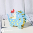 New Baby In Pram 3D Handmade Card #3327