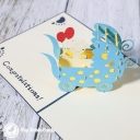 3D Pop-Up Greetings Card #3328