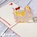 New Baby In Pram 3D Handmade Card #3329