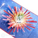 New Year's Eve Fireworks Starburst Handmade 3D Pop-Up Card #2458