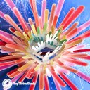 New Year's Eve Fireworks Starburst Handmade 3D Pop-Up Card #2462