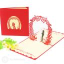 Newly Wed Bride & Groom Handmade 3D Pop-Up Wedding Congratulations Card #2916