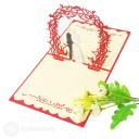 Newly Wed Bride & Groom Handmade 3D Pop-Up Wedding Congratulations Card #2917