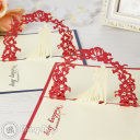 Newly Wed Bride & Groom Under Floral Arch 3D Pop-Up Greeting Card 813