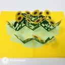 Patch Of Sunflowers Handmade 3D Pop Up Card #3650
