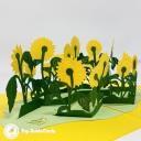 Patch Of Sunflowers Handmade 3D Pop Up Card #3689