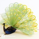 Peacock 3D Pop-Up Greetings Card (Green) 1723