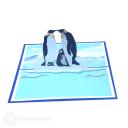 Penguin Family 3D Greetings Card #3350