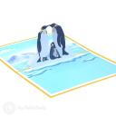 Penguin Family 3D Greetings Card #3356