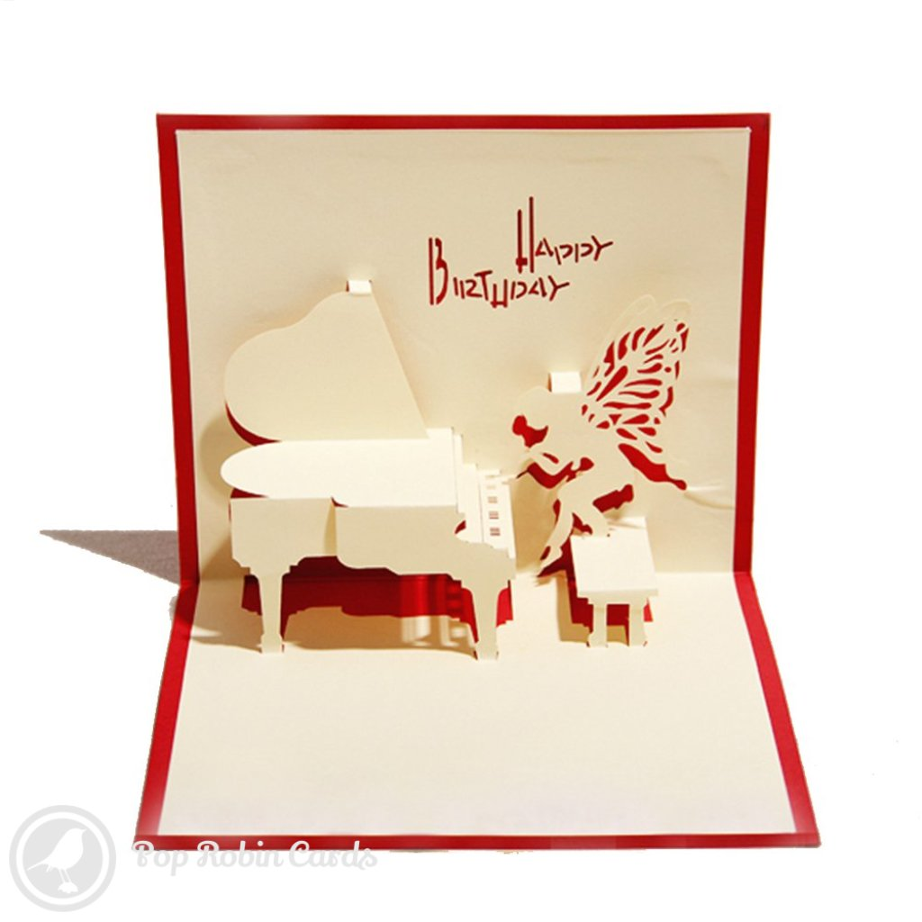 Piano 3D Pop-Up Birthday Card  1464
