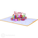 Pile Of Presents Happy Birthday 3D Pop Up Card #3895