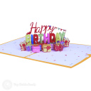 Pile Of Presents Happy Birthday 3D Pop Up Card #3896