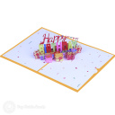 Pile Of Presents Happy Birthday 3D Pop Up Card #3897