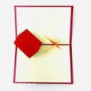 Pine Tree & Snow Lodge Handmade 3D Pop Up Card #3672