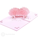 Pink Blossom Trees In Field 3D Pop-Up Card #2810
