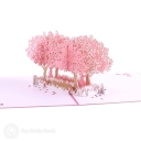 Pink Blossom Trees In Field 3D Pop-Up Card #2825