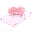 Pink Blossom Trees In Field 3D Pop-Up Card #2827