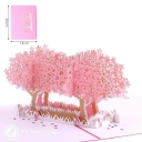 Pink Blossom Trees In Field 3D Pop-Up Card #2832