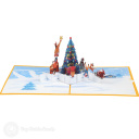 Placing Star On Christmas Tree 3D Pop Up Card #3907