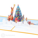 Placing Star On Christmas Tree 3D Pop Up Card #3910