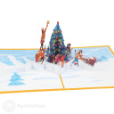 Placing Star On Christmas Tree 3D Pop Up Card #3911
