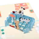 Playful Cats 3D Pop Up Handmade Card #3564