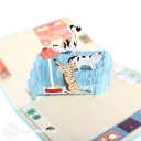 Playful Cats 3D Pop Up Handmade Card #3567