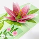 Pretty Lily 3D Handmade Pop Up Card #3641