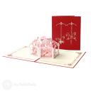 Pretty Pink Merry-Go-Round 3D Pop Up Handmade Card #3572