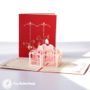 Pretty Merry-Go-Round 3D Pop Up Handmade Card #3573