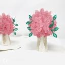 Pretty Pink Rose Bouquet 3D Handmade Pop Up Greetings Card #3855