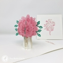 Pretty Pink Rose Bouquet 3D Handmade Pop Up Greetings Card #3858