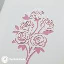 Pretty Pink Rose Bouquet 3D Handmade Pop Up Greetings Card #3859