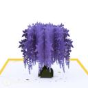 Purple Wisteria Tree 3D Pop Up Handmade Card #3522