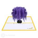 Purple Wisteria Tree 3D Pop Up Handmade Card #3523
