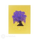Purple Wisteria Tree 3D Pop Up Handmade Card #3524