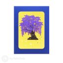 Purple Wisteria Tree 3D Pop Up Handmade Card #3525