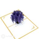 Purple Wisteria Tree 3D Pop Up Handmade Card #3526