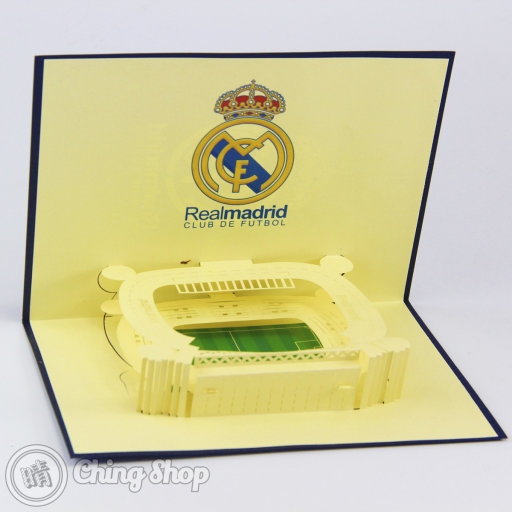 Real Madrid Football Club Stadium 3D Pop-Up Greeting Card 651
