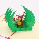 Reindeer In Forest Glade Handmade Card #3417