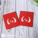 Reindeer In Forest Glade Handmade Card #3418