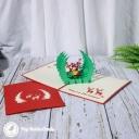 Reindeer In Forest Glade Handmade Card #3419
