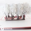 Reindeer Sleigh Through Forest 3D Handmade Card #3457