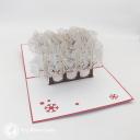 Reindeer Sleigh Through Forest 3D Handmade Card #3461