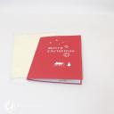 Reindeer Sleigh Through Forest 3D Handmade Card #3462